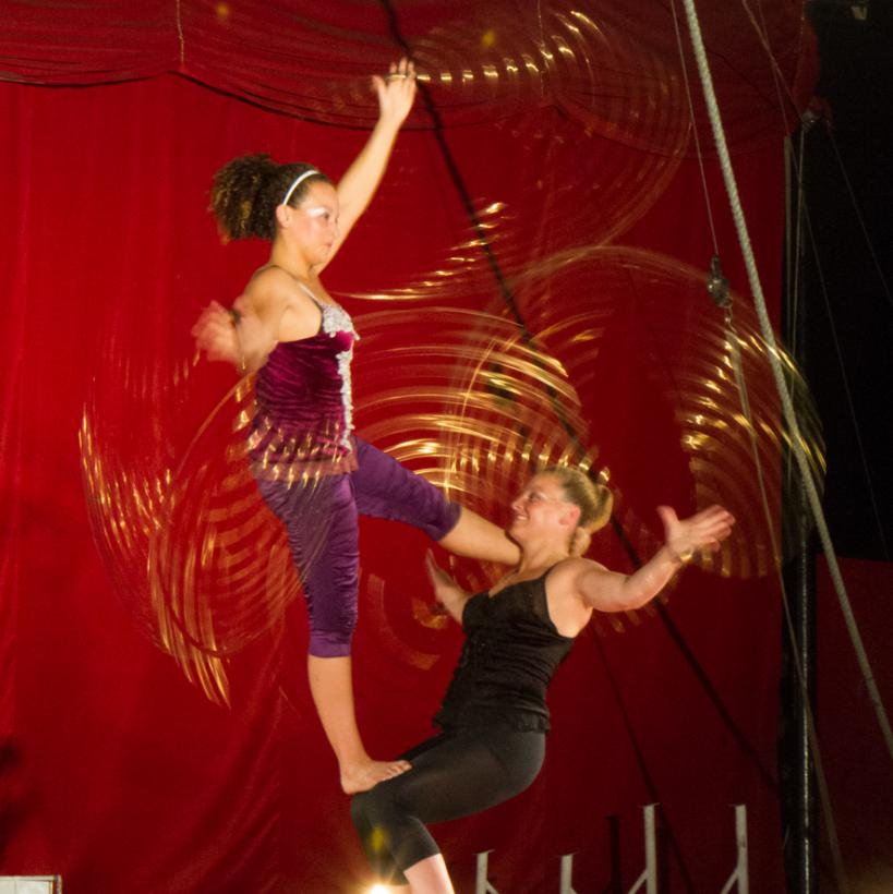 Hula Hoop Acro Balance Act