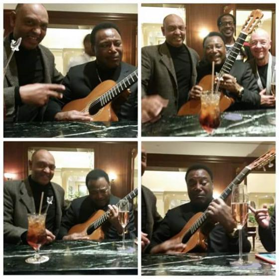 Rashaad performs for George Benson